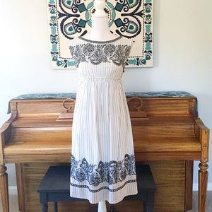 LOFT Maternity Embroidered Striped Dress
